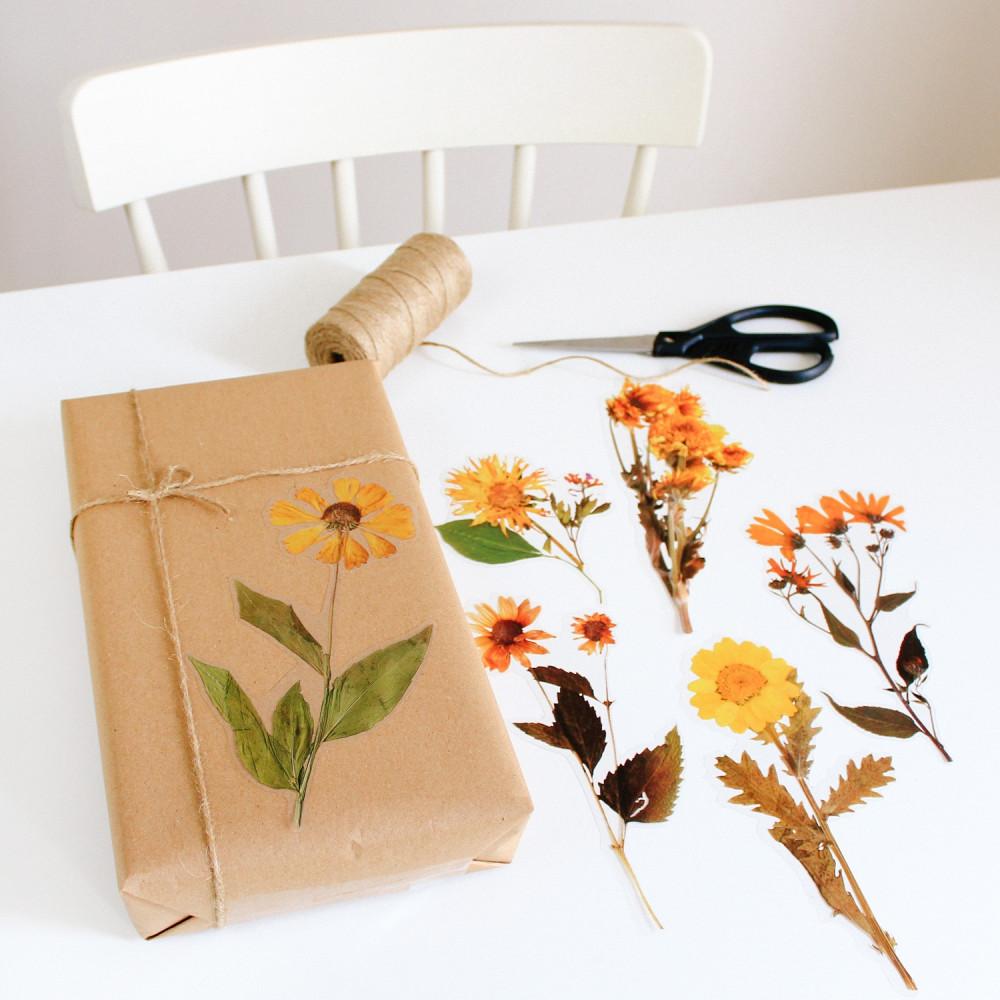 ستيكرات نباتات خريف ستيكر ورود لتزيين اللابتوب أفكار لتغليف الهدايا