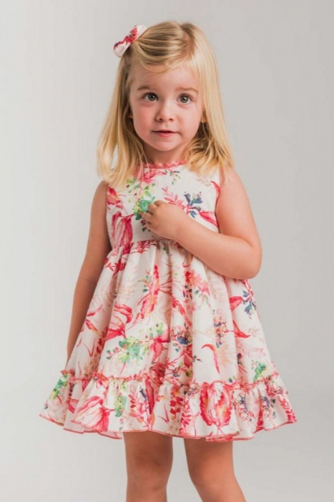 فستان-اسباني-بطباعة-فوشية