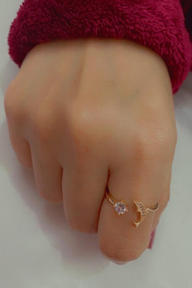 خاتم مزخرف سمكة وكرستال