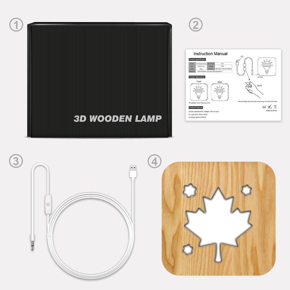 تحفة مضيئة على شكل ورقة شجر من متجر مواسم طريقة التركيب وتوصيل الإضاءة