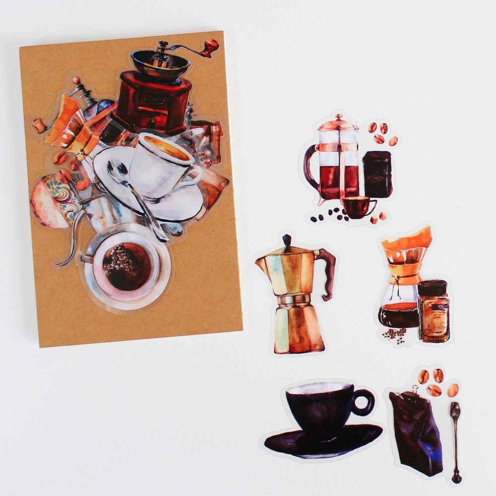 ملصقات ستيكرات لاصقة للقهوة أدوات القهوة المختصة تزيين اللابتوب ديكور