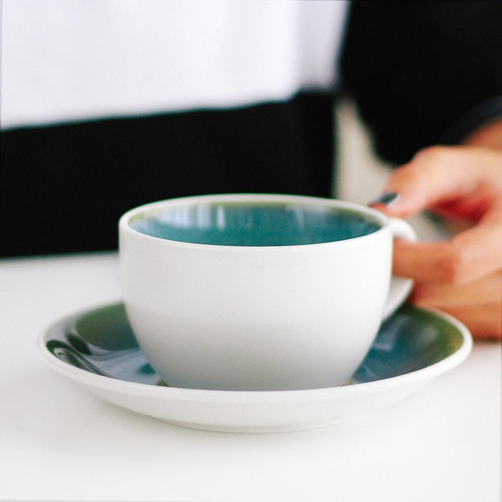 كوب سيراميك لاتيه مع صحن أكواب قهوة كوب خزف كوب متجر هدايا ركن القهوة