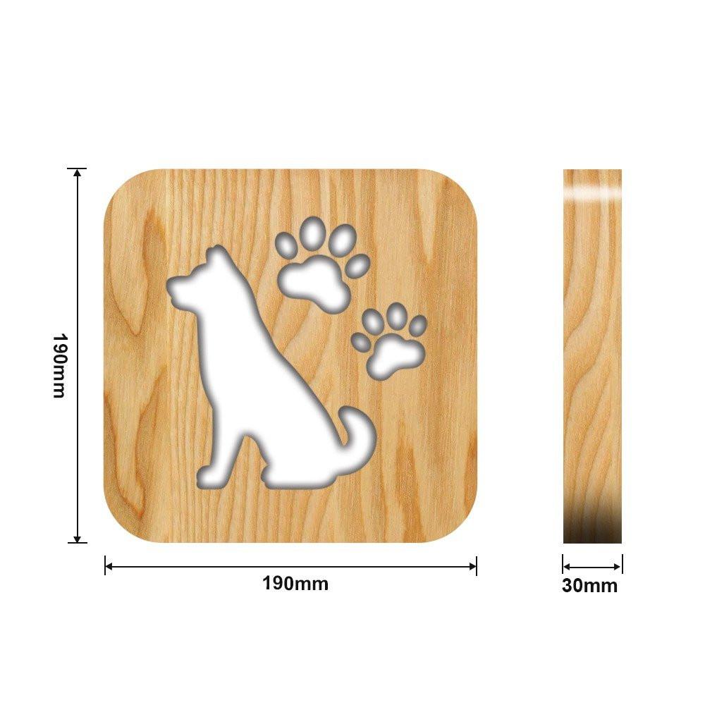 مواسم تحفة فنية مضيئة باللون الخشبي القياسات التفصيلية للتحفة والقاعدة