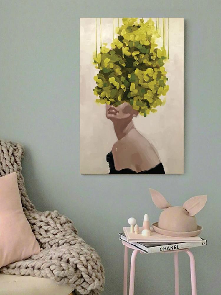 لوحة فتاة الورد خشب ام دي اف مقاس 40x60 سنتيمتر