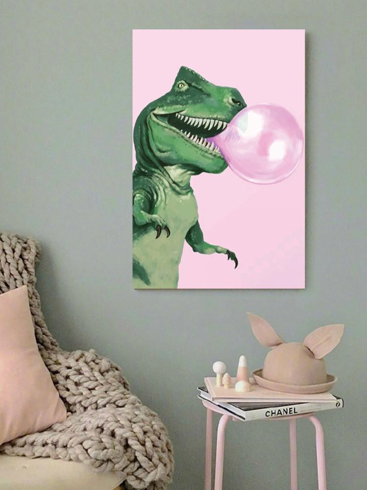 لوحة الديناصور خشب ام دي اف مقاس 40x60 سنتيمتر