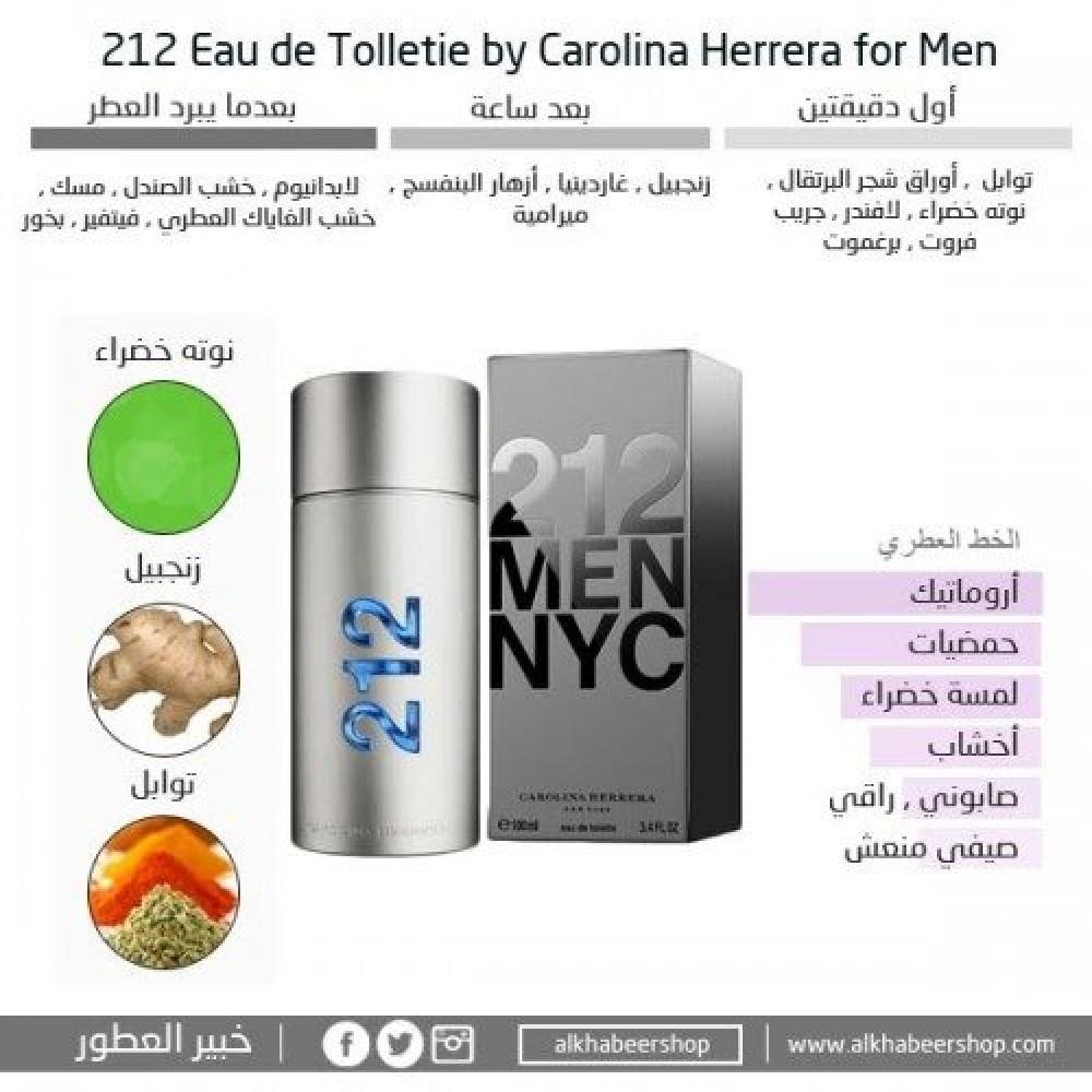 Carolina Herrera 212 for Men NYC Eau de Toilette 100ml خبير العطور