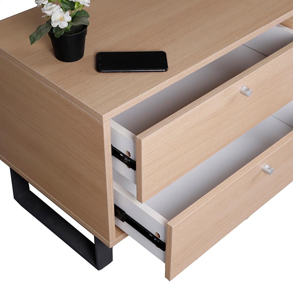 في مواسم طاولة تلفزيون بأدراج تخزين واسعة تفتح  بسهولة وانسيابية