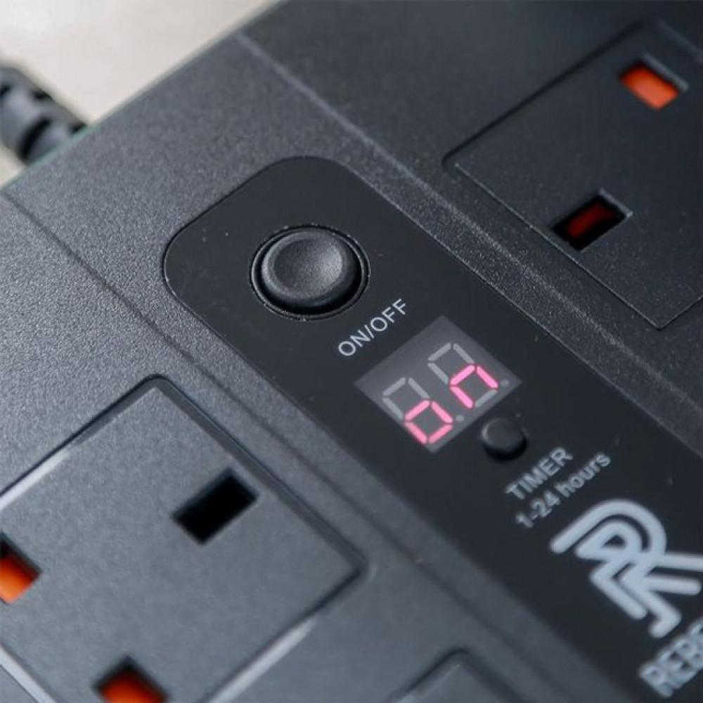 توصيلة كهربائية مع فيوز حماية وامان قابس كهربائي بمؤقت timer