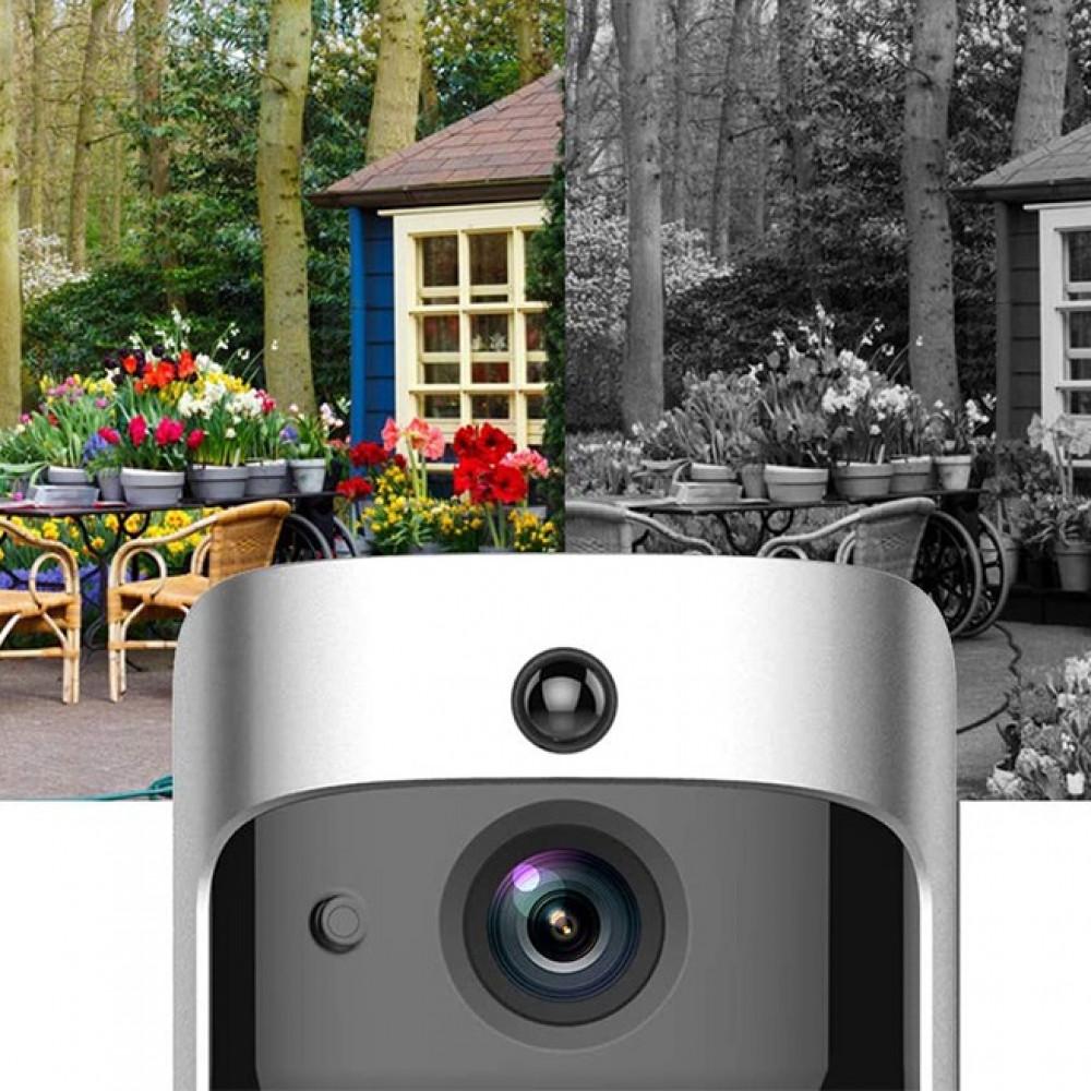 جرس باب ذكي بدون أسلاك مع كاميرا 720 بكسل واي فاي بصري يدعم  الرؤية ال