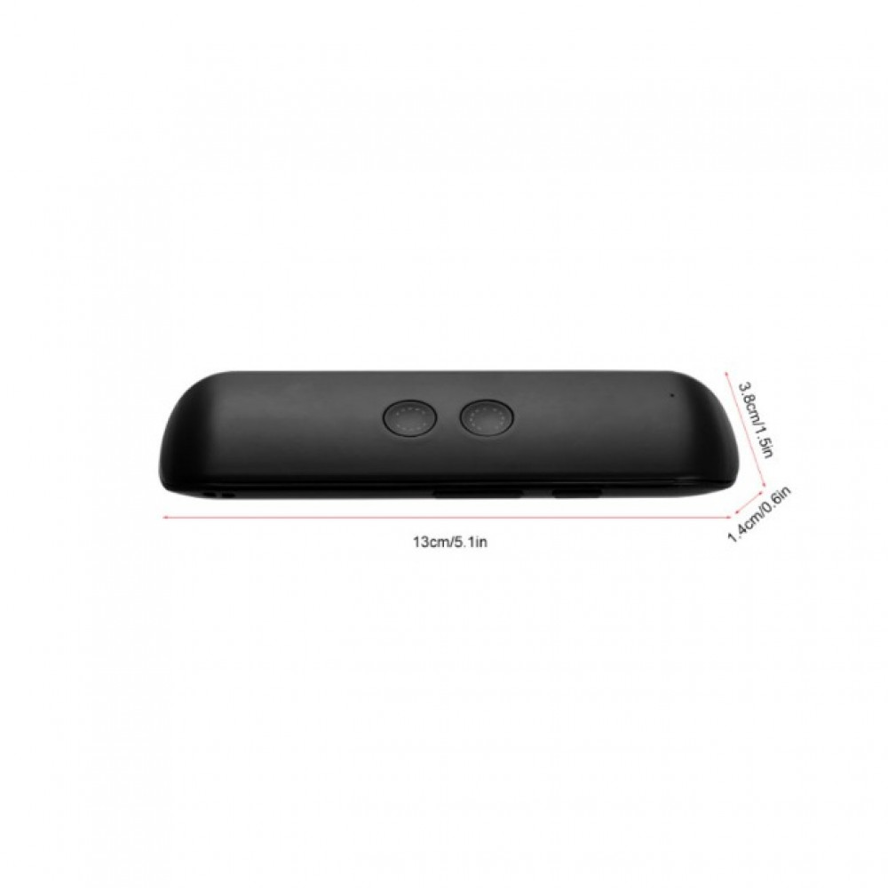 جهاز مترجم صوتي ذكي محمول يعمل بالبلوتوث يدعم 40 لغه مختلفة لون اسود ق