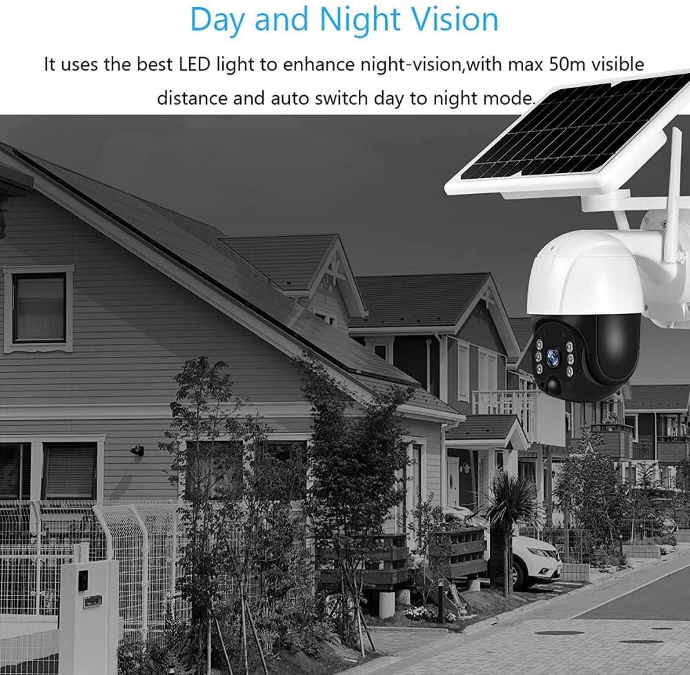 كاميرا مراقبه خارجيه رؤية 355 درجة لاسلكية تعمل عن بعد عن طريق الجوال