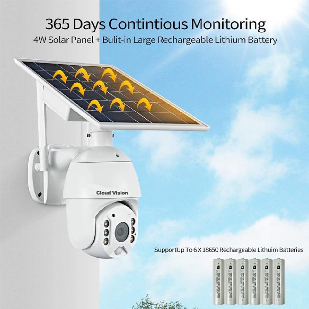 كاميرا مراقبة لاسلكية 4G خارجيه و داخلية بدون تمديد ولا فني تركيب