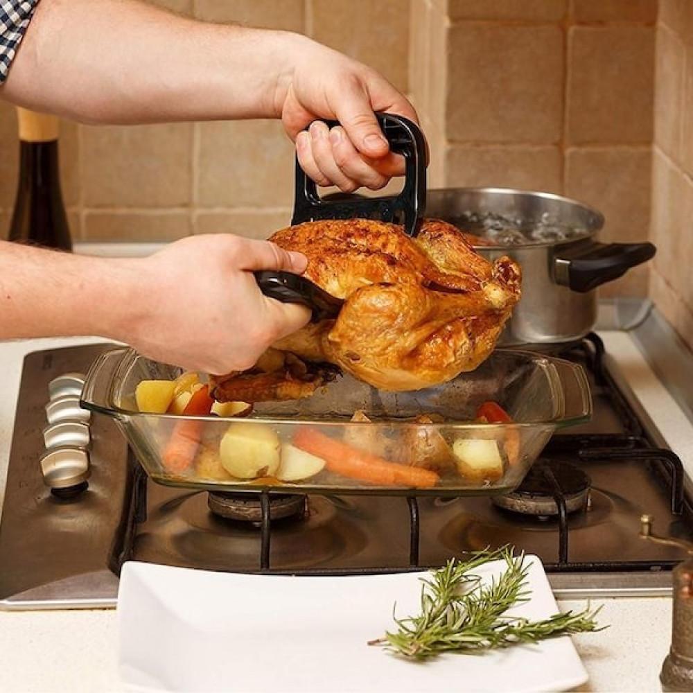 شوكة اللحم ونزع الشحم من المفاطيح والذبائح تستخدم في الافراح والعزائم