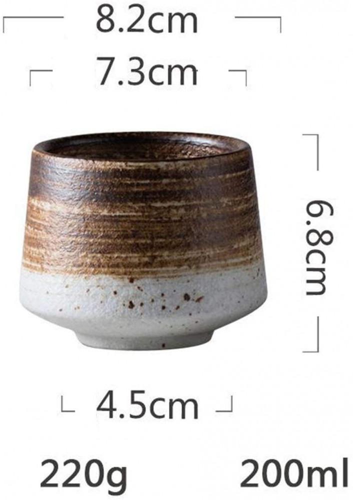 كوب سيراميك ابيض بني 200 مل vaso