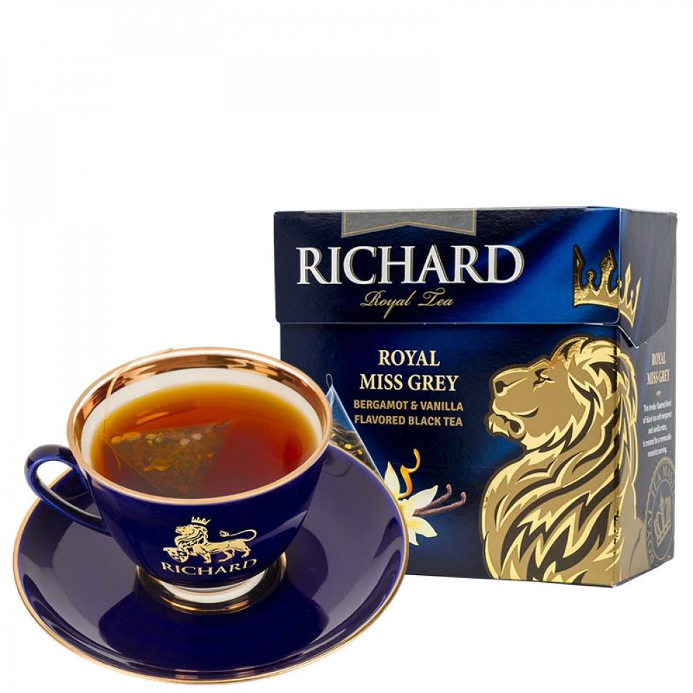 شاي السيدة الملكية الرمادي ريتشارد  Miss Grey Pyramid Richard