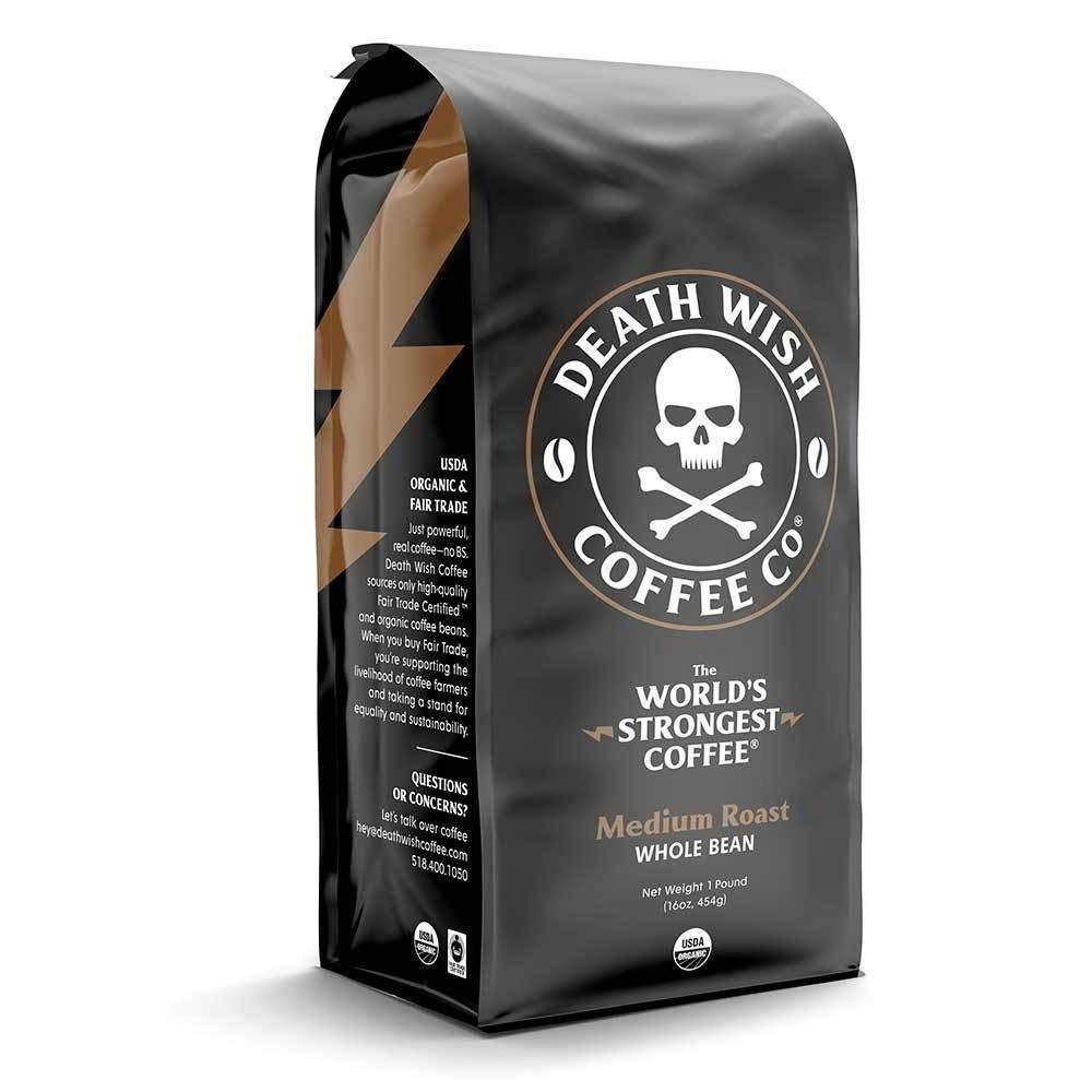 حبوب قهوة ديث وش وسط  death wish coffee bean