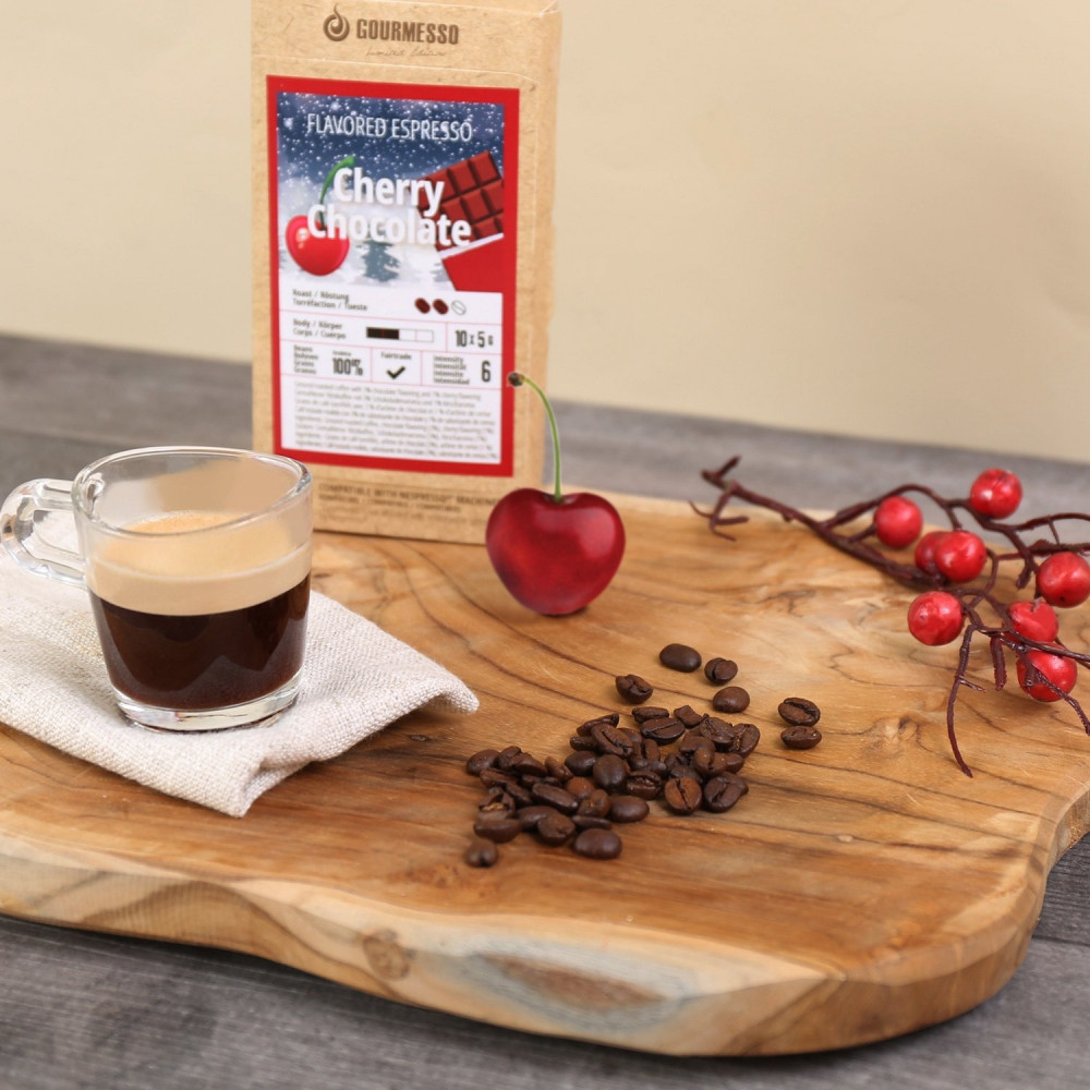 كبسولات جورميسو بالكرز والشوكولاتة Gourmesso Coffee Capsules