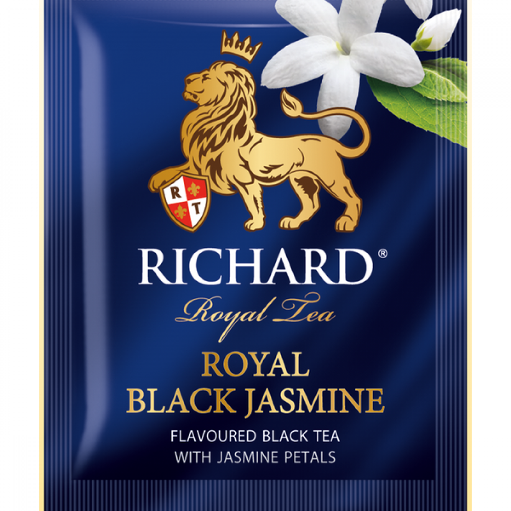 شاي الياسمين الاسود ريتشارد  Royal Black Jasmine Tea Bag Richard