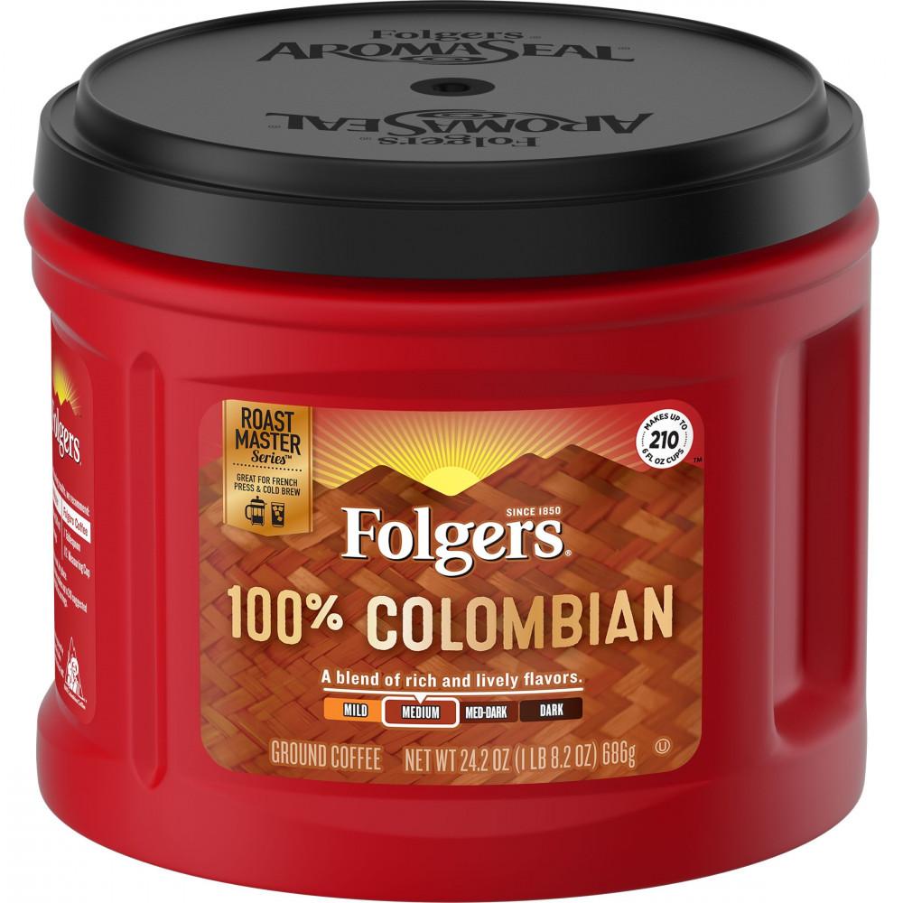 فولجرز كولومبية متوسطة غامقة التحميص قهوة امريكية