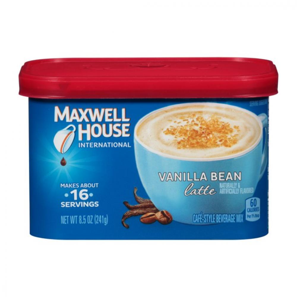 ماكسويل هاوس فانيلا لاتيه  maxwell house vanilla bean latte