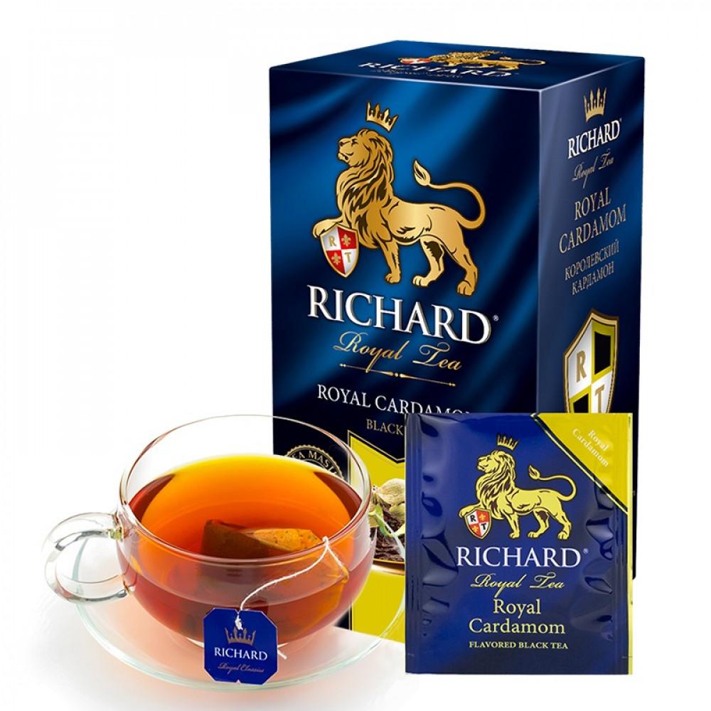 شاي أسود مع الهيل ريتشارد Royal Cardamom Richard Tea