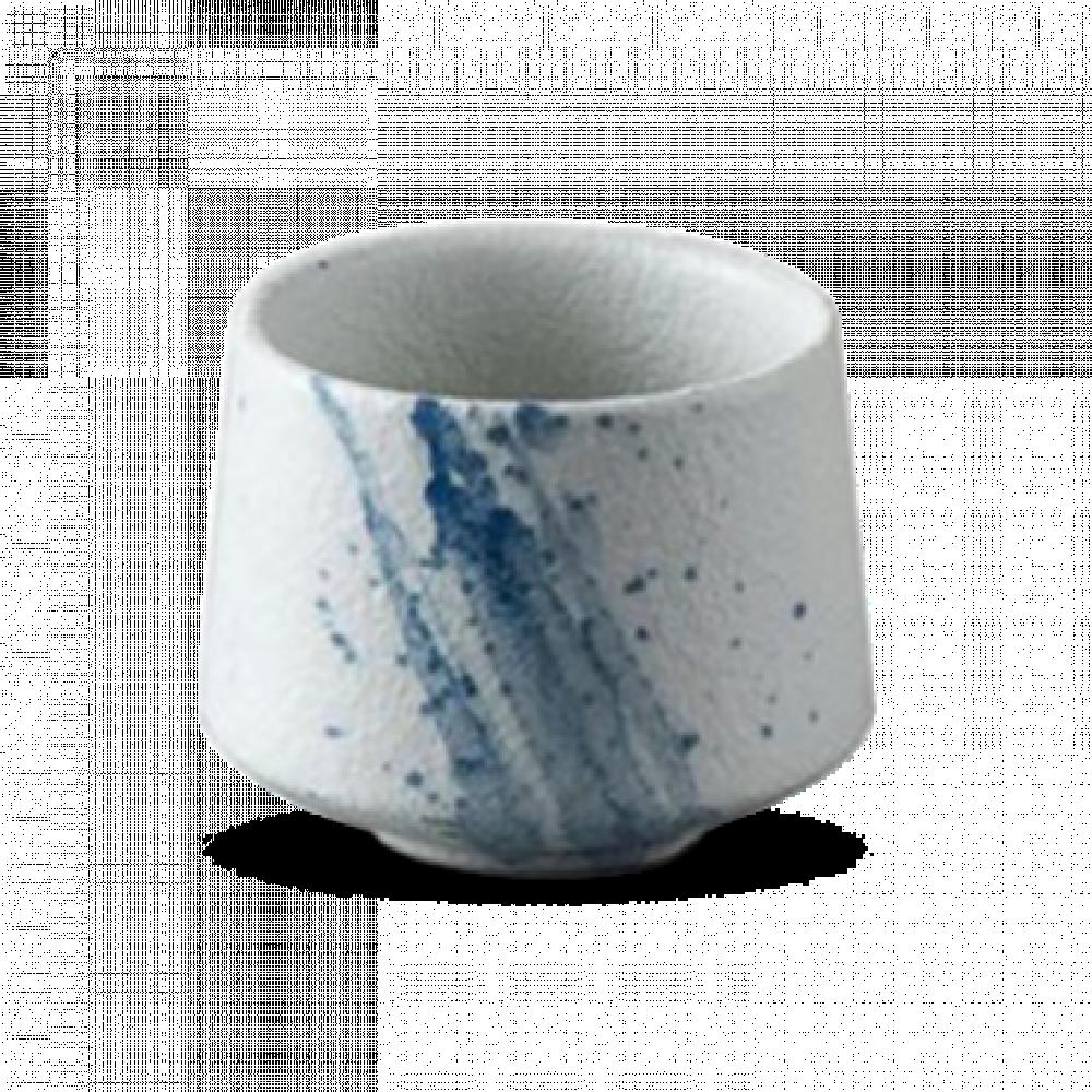 كوب سيراميك ابيض بنقشة زرقاء 190 مل