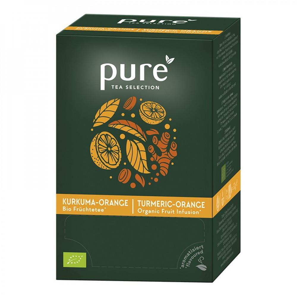 شاي بيور البرتقال والكركم Pure Tea Selection Turmeric Orange