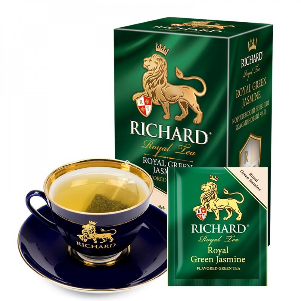 شاي الياسمين الاخضر ريتشارد  Royal Green Jasmine Tea Bag Richard
