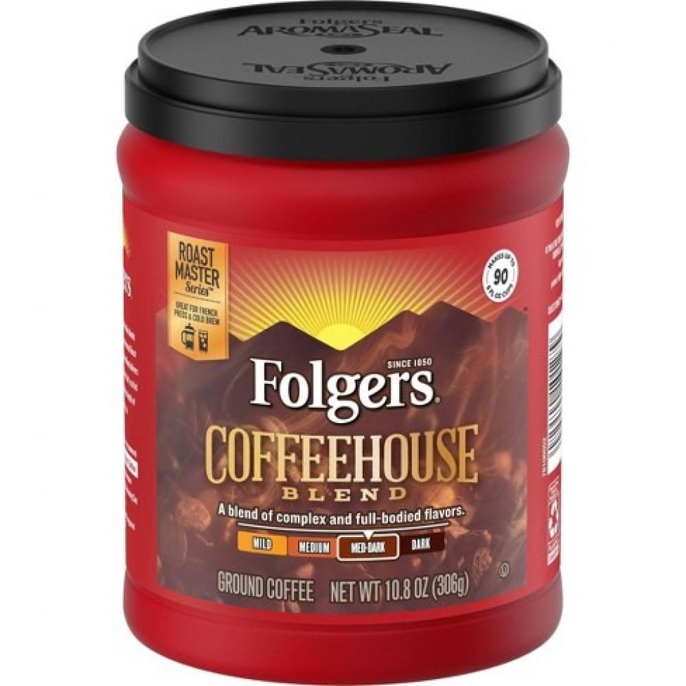 قهوة فولجرز كوفي هاوس بليند وسط-غامق folgers coffeehouse blend med-dar