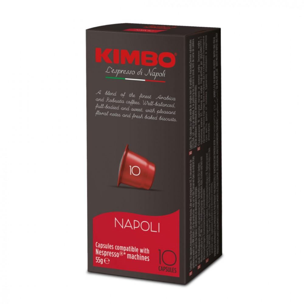 كبسولات كيمبو نابولي نسبريسو KIMBO Napoli Capsules Nespresso