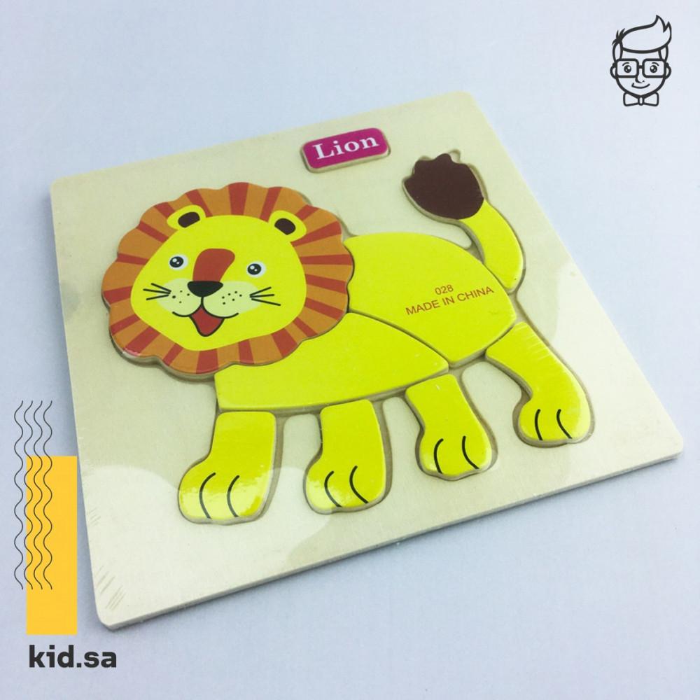 لعبة بازل اسد lion خشبية من متجر العاب براعة طفل