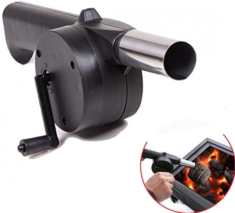 منفاخ هواء يدوي لاشعال النار الفحم للنزهة تخييم الطبخ الشواء