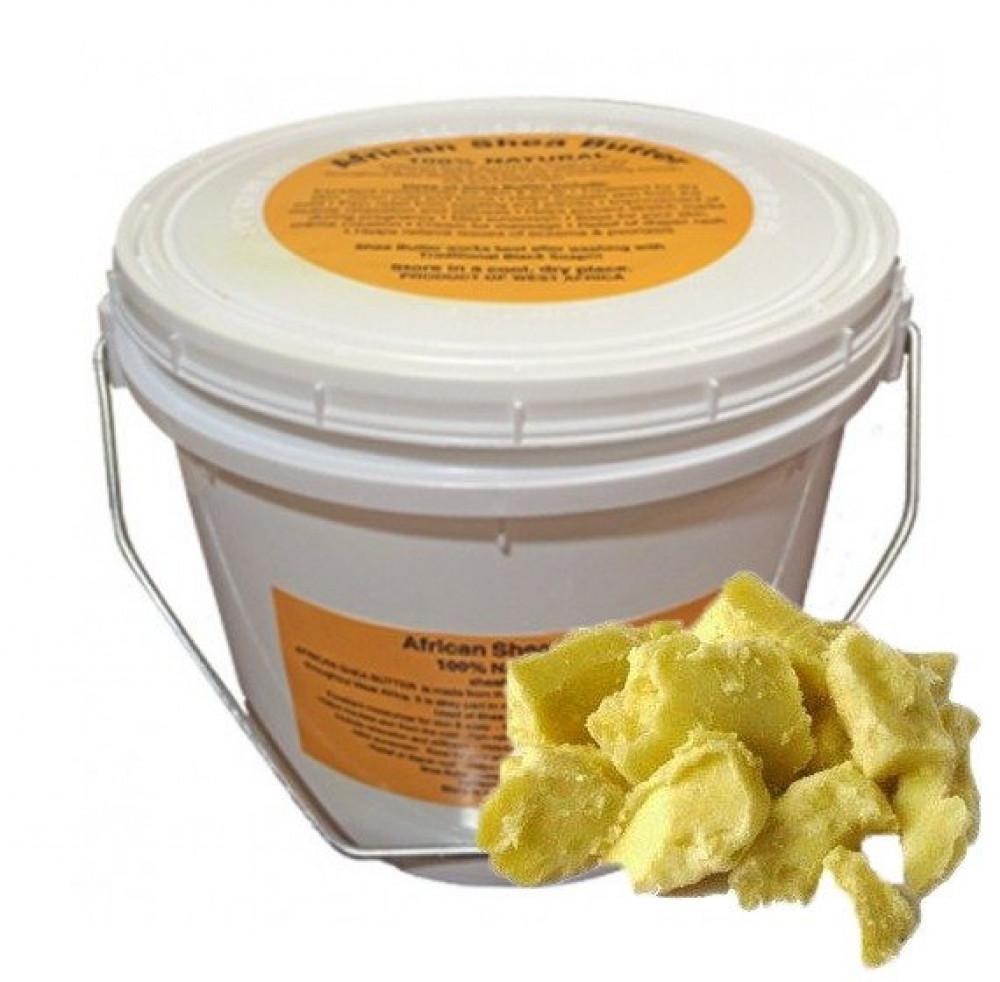 زبدة الشيا الصفراء سطل بوزن 1 ونص كيلوجرام طبيعية خام بدون أي إضافات