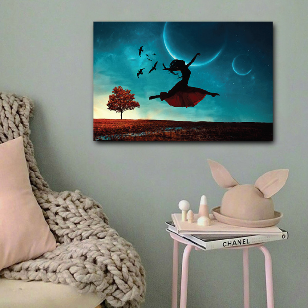 لوحة فتاة راقصة خشب ام دي اف مقاس 40x60 سنتيمتر