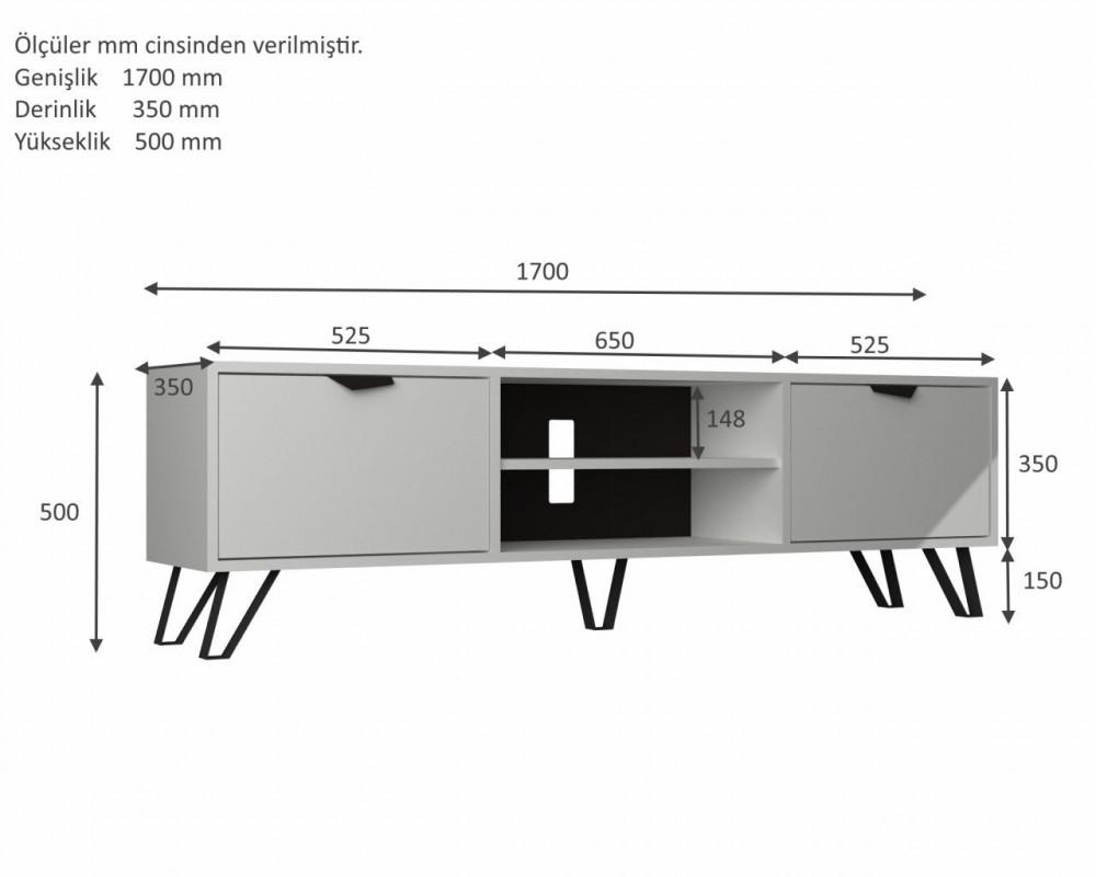 مواسم طاولة تلفاز أنيقة متعددة الاستخدام القياسات التفصيلية للطاولة