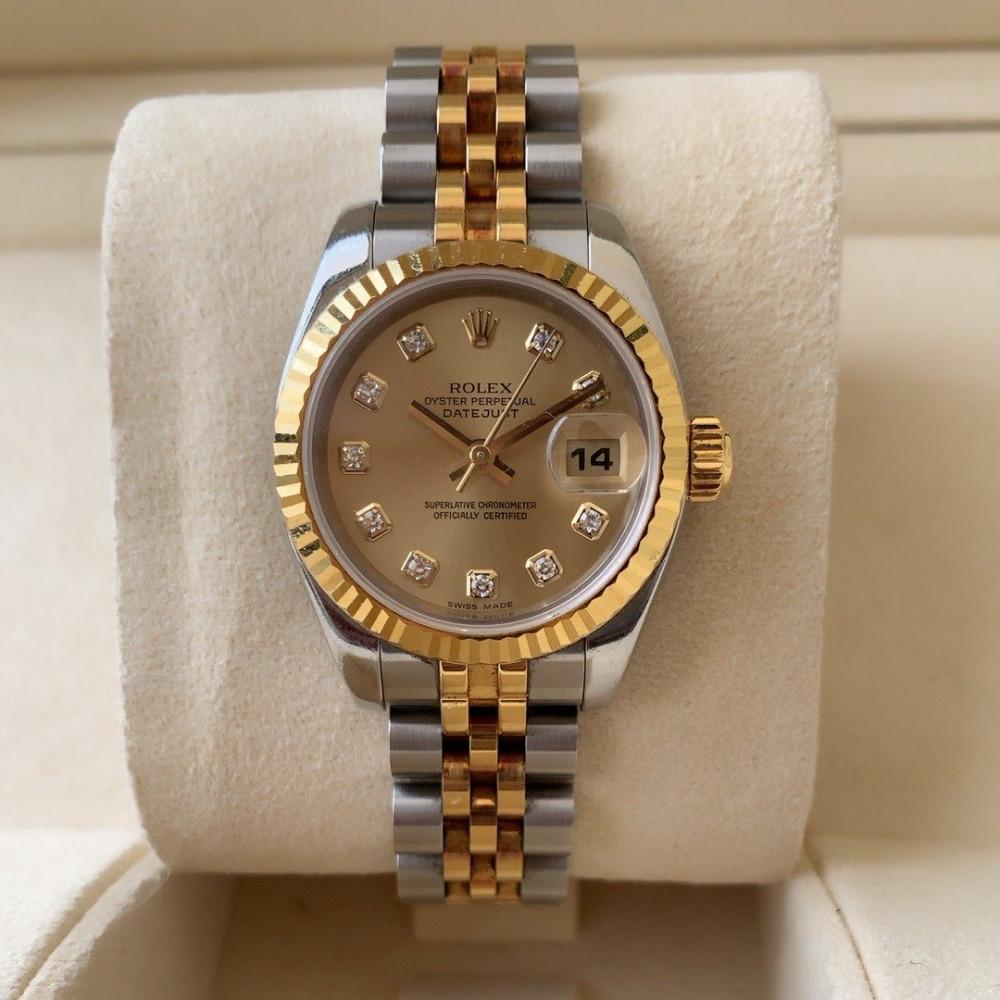 ساعة رولكس ديت جست الأصلية الثمينة مستعملة 179173