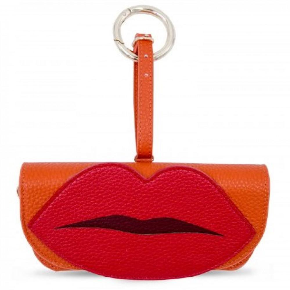 Iphoria Glasses Case Orange with Lips