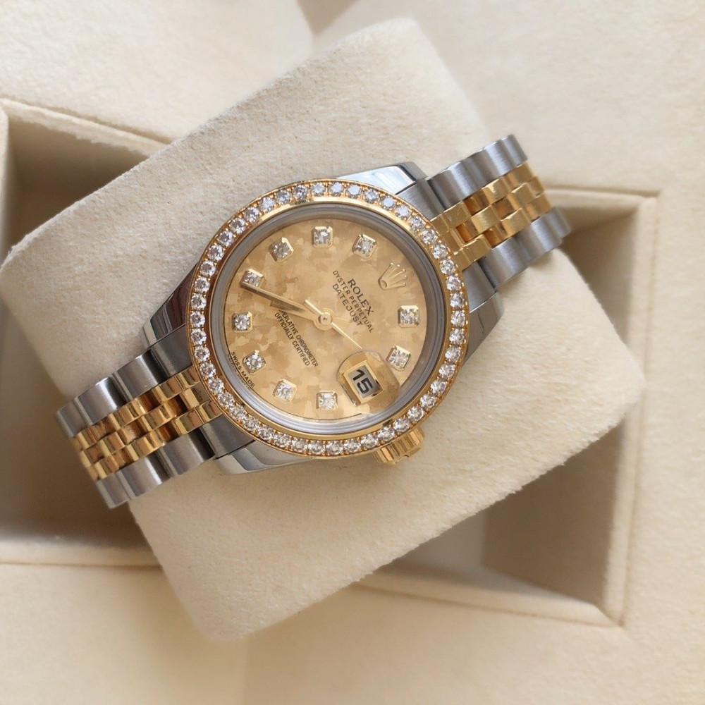 ساعة رولكس ديت جست الأصلية الثمينة مستخدمة 179383