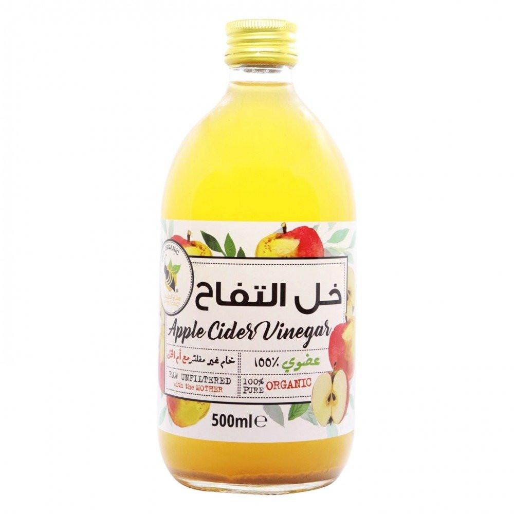 خل التفاح العضوي غير مفلتر مع ام الخل 500 جرام