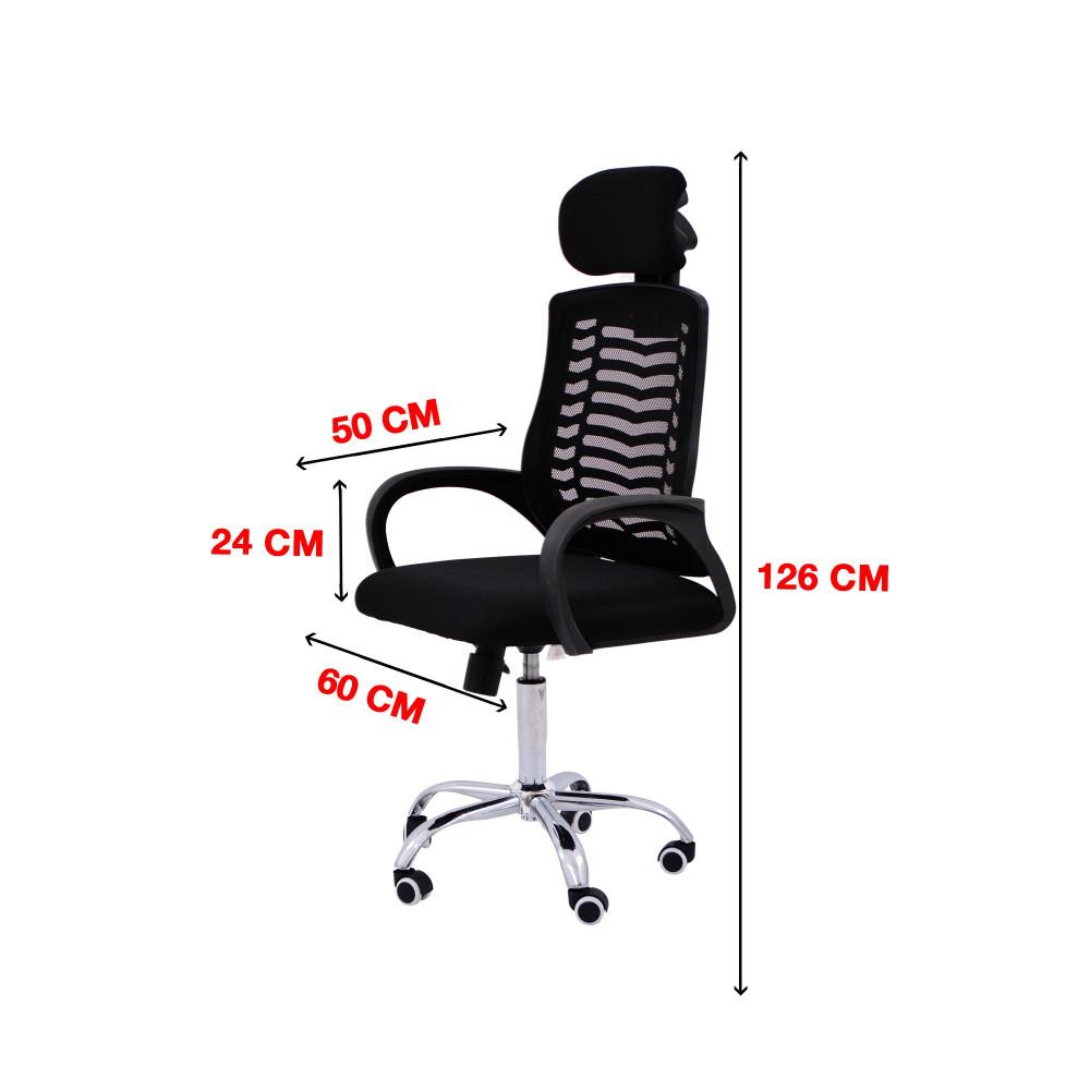 كرسي كاما شبك متحرك ظهر طويل zh-503