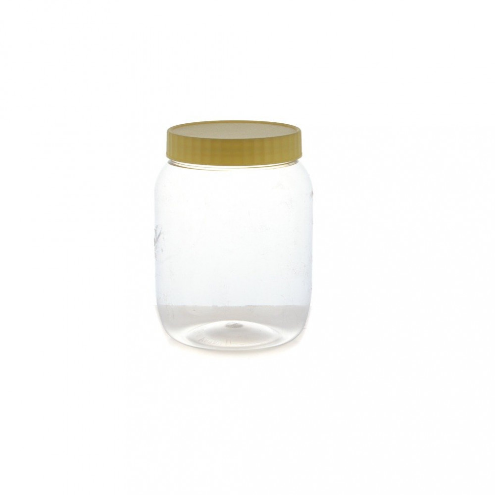 علب برطمان دائري بلاستيك شفاف 1000 ملي