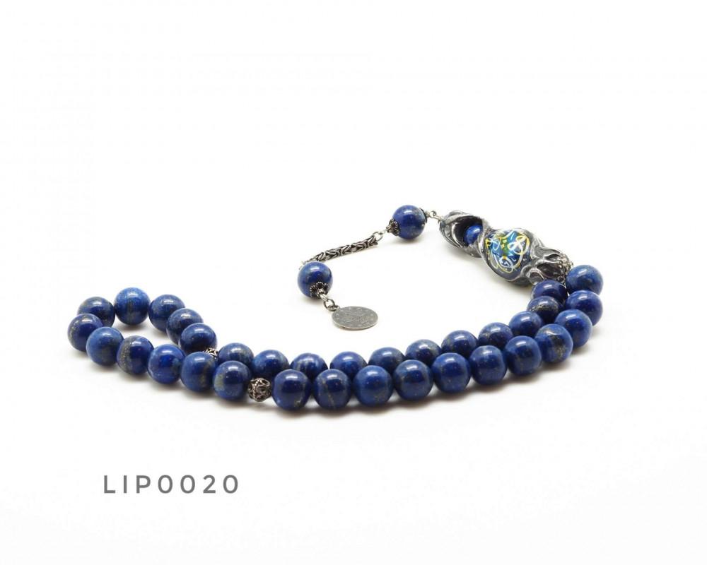 قوافل سبحة حجر طبيعي لازورد Lip0020