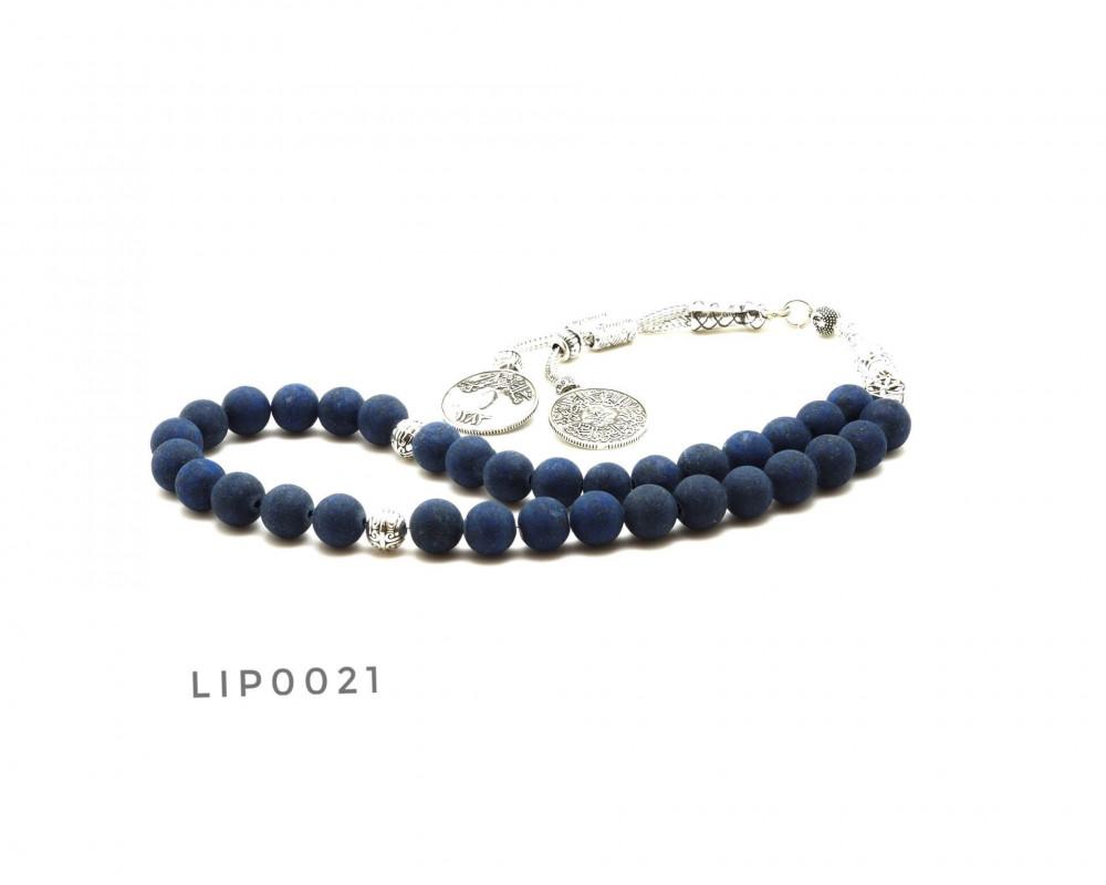 قوافل سبحة حجر لازورد طبيعي Lip0021