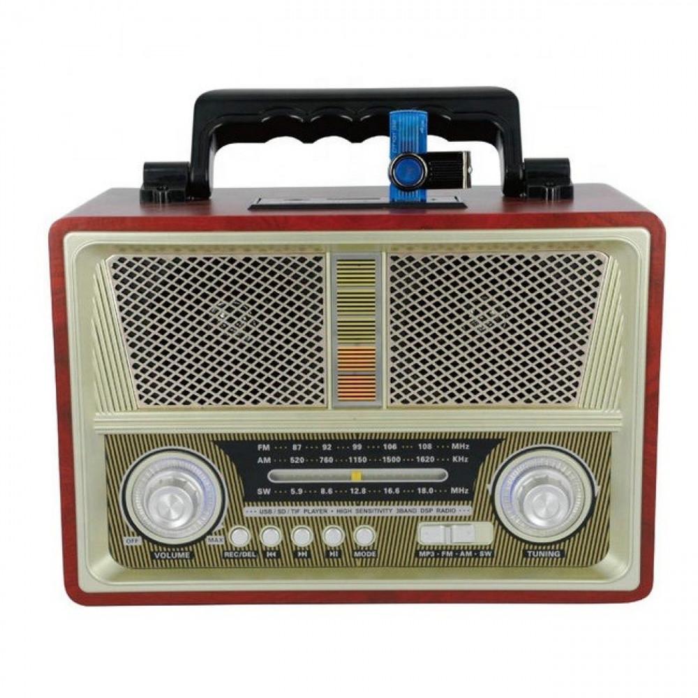 راديو من كيماي MD-1802BT تراثي كلاسيكي محمول مع مشغل صوتيات