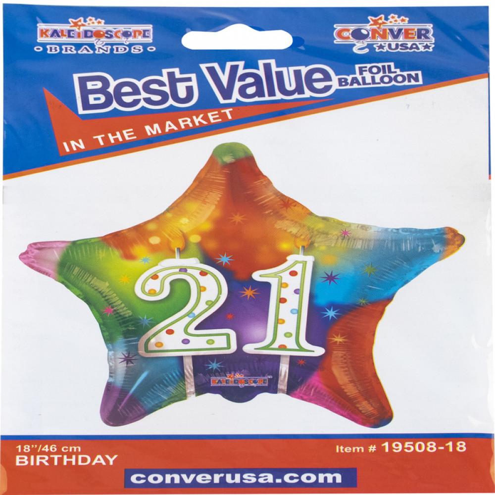 21st Birthday Balloon, بالون عيد ميلاد ال21, بلونات أشكال