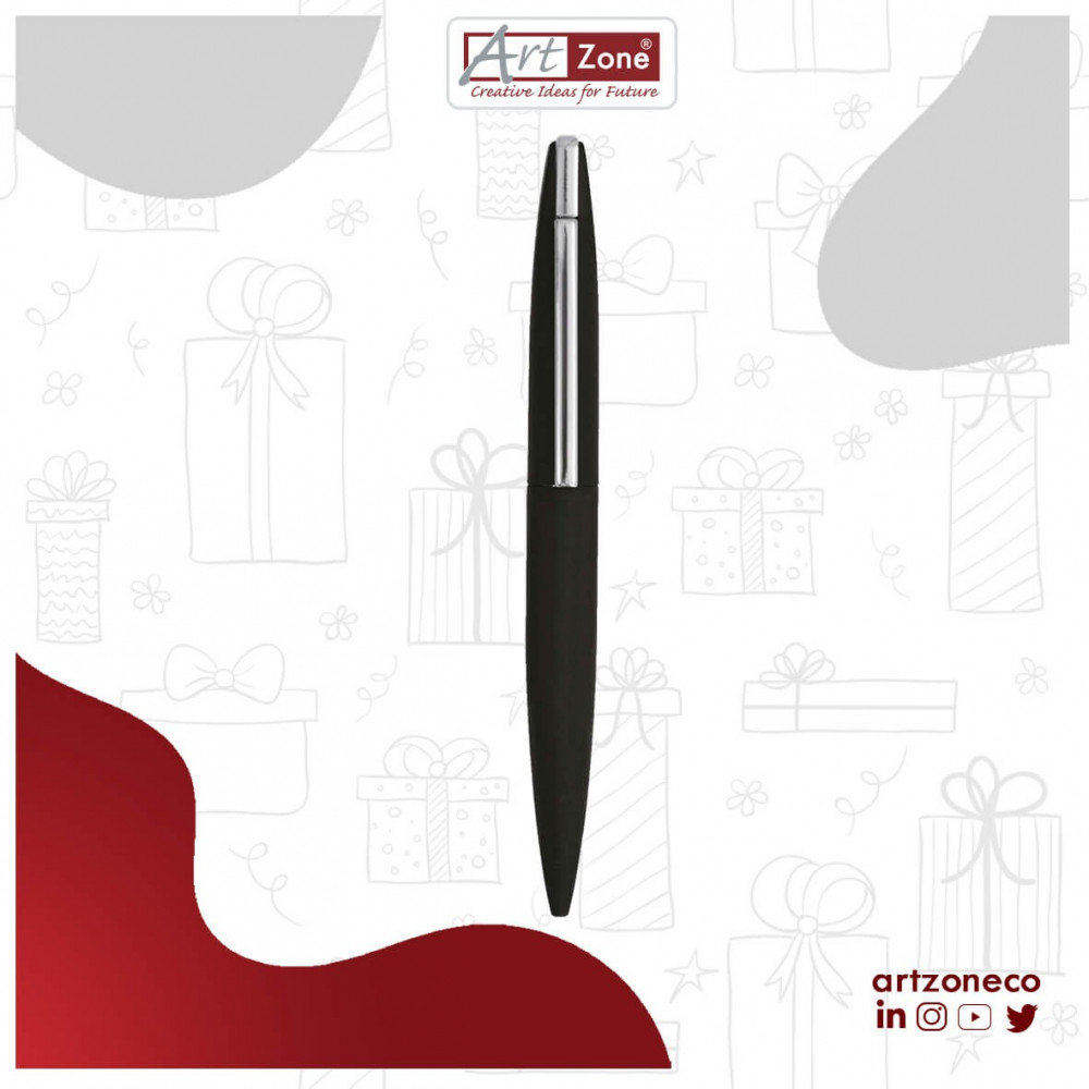 قلم فضي وأسود