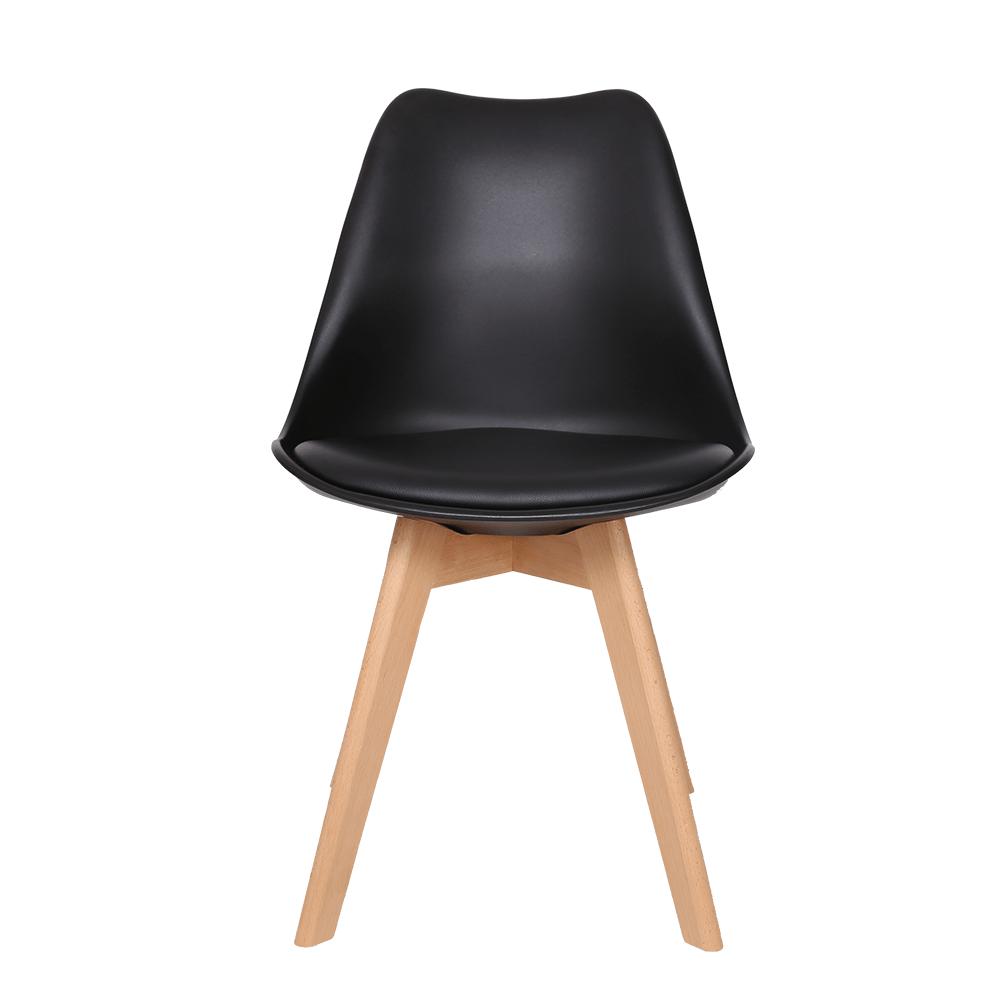 رؤية أمامية للكرسي الأنيق من طقم كراسي نيت هوم أسود في متجر يوتريد