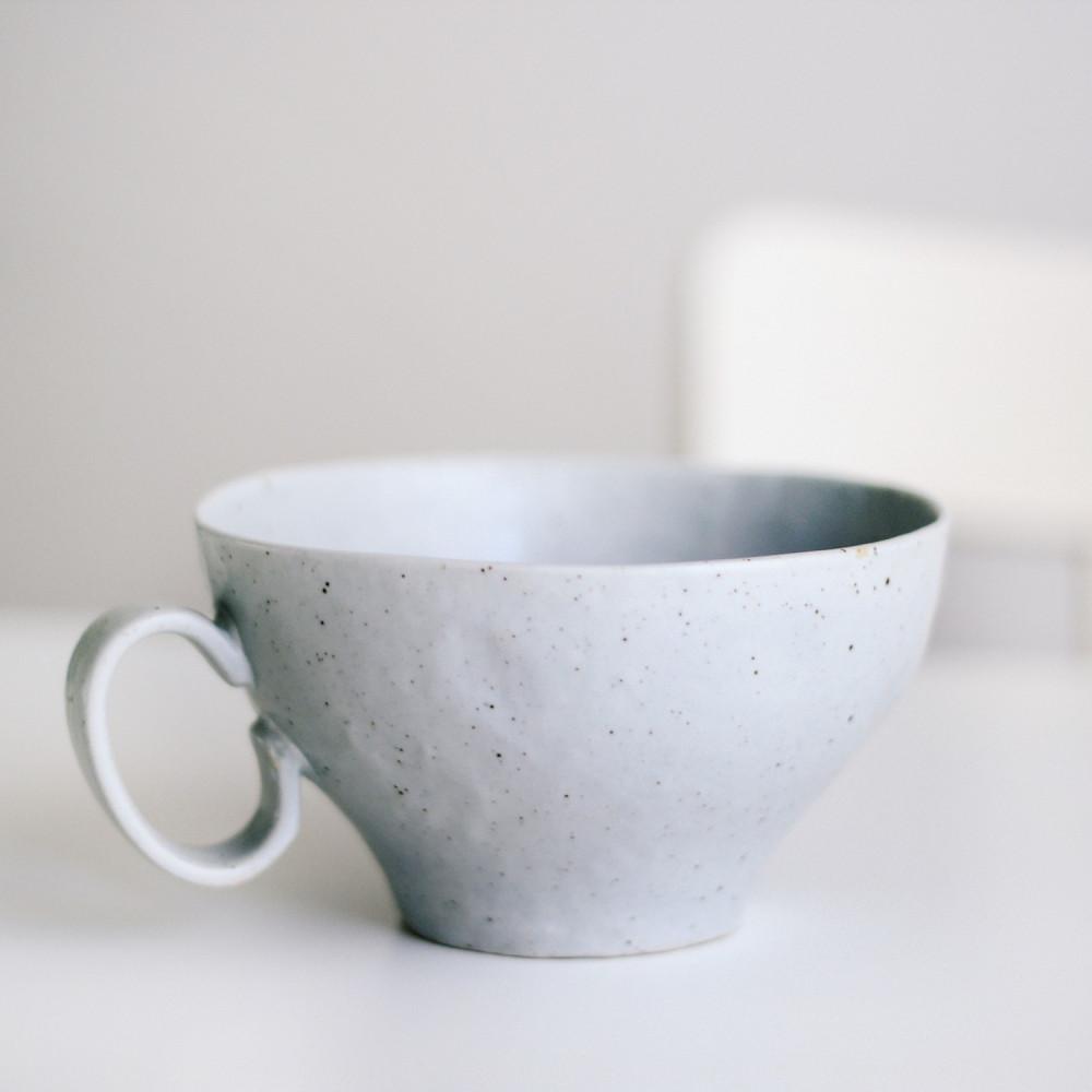 كوب حجري صناعة يدوية  أدوات القهوة المختصة كوب لاتيه ستايل كونكريت