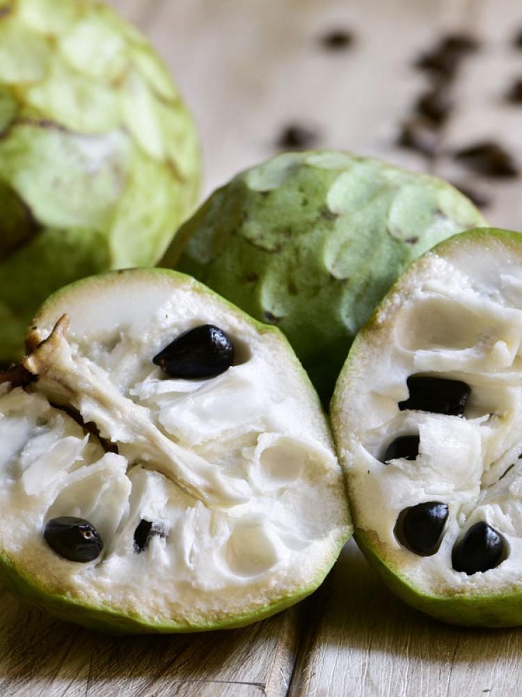 بذور فاكهة القشطة -  Annona sp