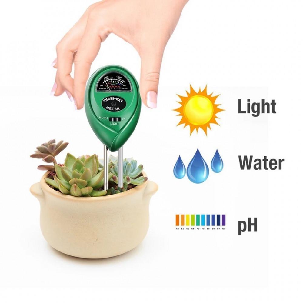 جهاز  3 1 لقياس الرطوبة والتربة والضوء